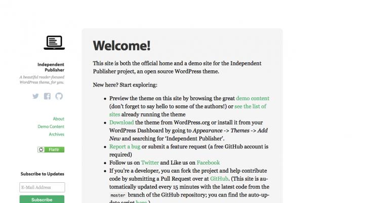 Independent Publisher WordPress Theme