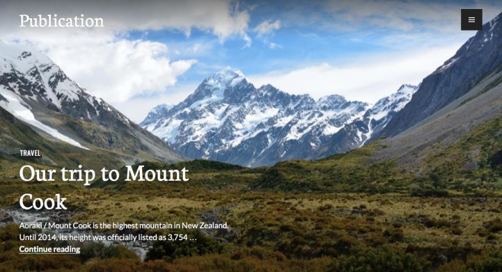 Publication WordPress Theme Screenshot