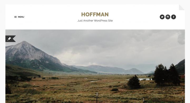 Hoffman WordPress theme screenshot