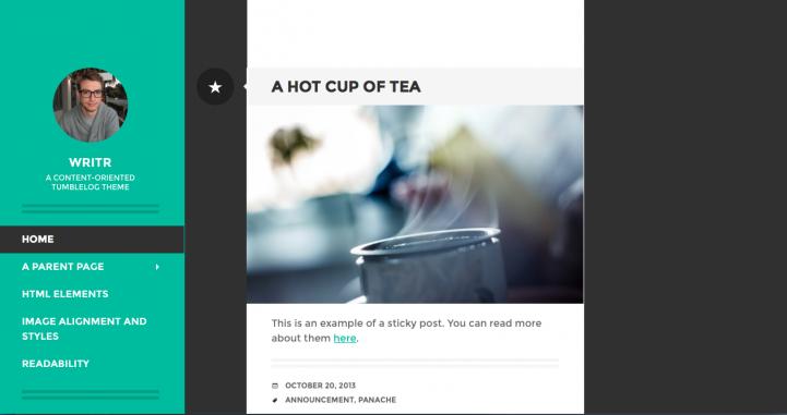 Writr WordPress Theme Screenshot