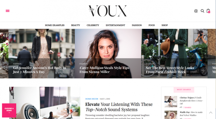 The Voux WordPress Theme Review